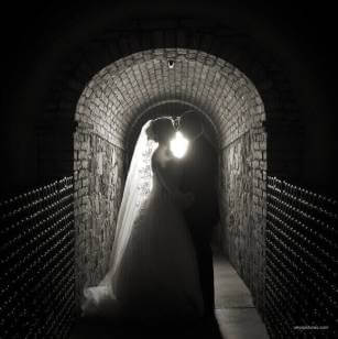 Wedding Photography – Back Light - Monotone - Winery